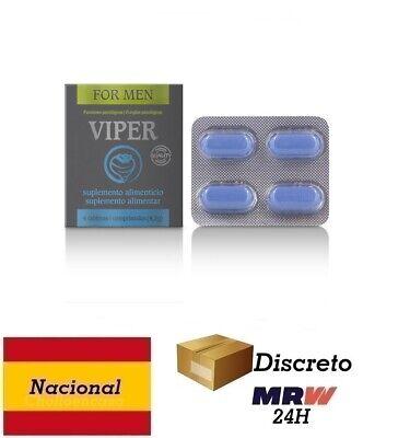 Efecto Ereccion Pene y energia - VIPER POTENCIADOR MASCULINO 4 CAPSULAS ES/PT
