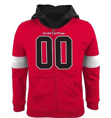 BOYS DETROIT RED WINGS FULL-ZIP FLEECE HOODIE COSTUME SIZE SMALL (8)  NWT - Red Wings Costume