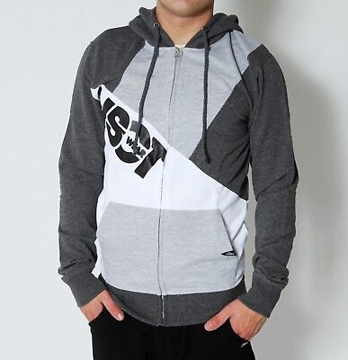 VSCT 3-Colour Block Sweat Sweatjacke grau Zip Hoodie Zipper Jacke Kapuzensweater Block Zip Hoodie