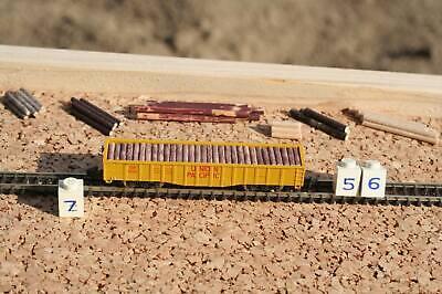 Z 56  --  1 x Ladegut Baumstamm rotbraun - für US Hochbordwagen Märklin Z