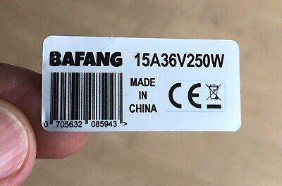 2x Motoraufkleber BAFANG 250W 36V BBS02B BBS01 Pedelec Ebike legal silber  ()