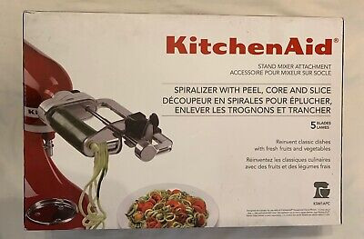 KitchenAid Spiralizer Attachment with Peel, Core and Slice - KSM1APC - New
