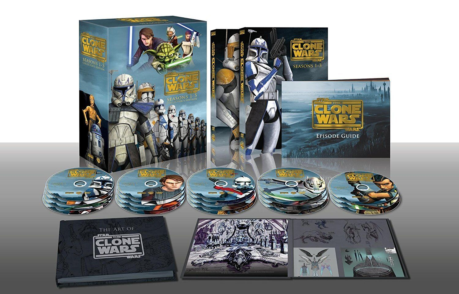 Star Wars: The Clone Wars DVD Collector's Edition Complete Series BRAND NEW