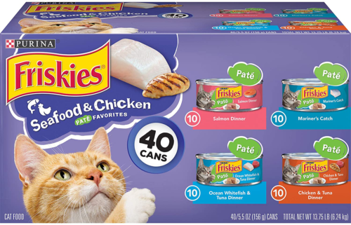 Purina Friskies Canned Wet Cat Food 40 Ct. Variety Packs - $23.45