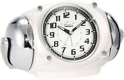 SEIKO Clock Super RAIDEN Loud Alarm Clock With Snooze Quartz White NR438W