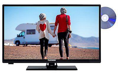 Telefunken XH24A101VD LED Fernseher mit DVD 24 Zoll 61cm TV HD DVB-T2/C/S2 CI+
