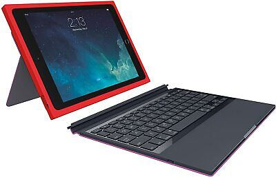 Logitech BLOK Protective Keyboard Case for iPad Air 2, Red Violet (920-007418)