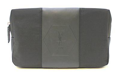 YSL YVES SAINT LAURENT BLACK POUCH / WASH / TOILETRY BAG FOR MEN - FREE POST
