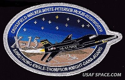 """X 15 - ORIGINAL 6"""" COMMEMORATIVE USAF NASA SPACE PATCH - ARMSTRONG ENGLE KNIGHT"""
