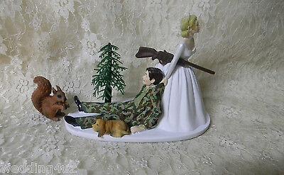 Bride Dragging Groom - Wedding Reception ~Squirrel Hunter~ Lazy  Dog Hunting Camo Bride Dragging Groom