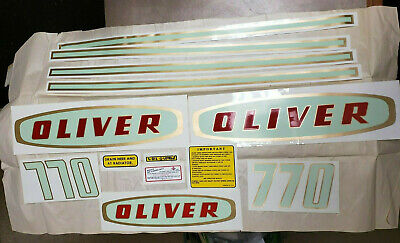 Oliver 770 Decal Set New Old Stock