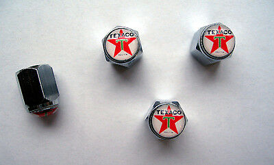 Texaco GasTire Valve Stem Caps, Texaco Gasoline Logo Tire Caps, Texaco tire Caps