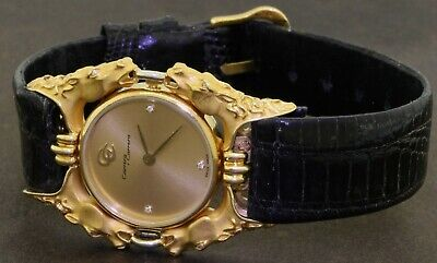 Carrera Y Carrera 18K yellow gold VS1/E factory diamond ladies large case watch