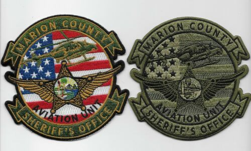 Aviation Marion County Sheriff SET  Florida FL Subdued & Color Police Airwing