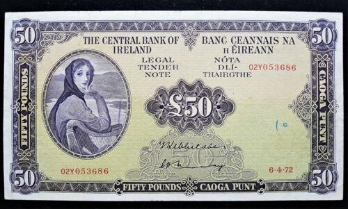 IRELAND 1972   £50 POUND  LADY  LAVERY  BANKNOTE