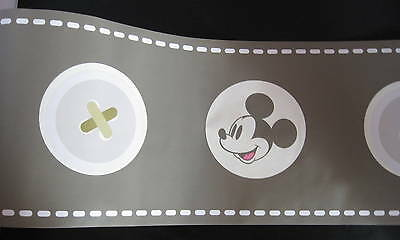 Kinderzimmer Mickey Maus Baby Bordüre Borte 5 m  selbstklebend  Tapetenborte