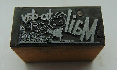 Printing Letterpress Printers Block Mail To Day