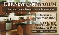 ebenisterie NAOUM.. installation ..fabrication..renovation