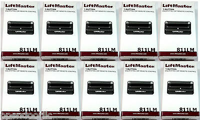 811LM 10-PACK LiftMaster 1 button Remote Security+ 2.0 for 850LM CSW24V CSL24V