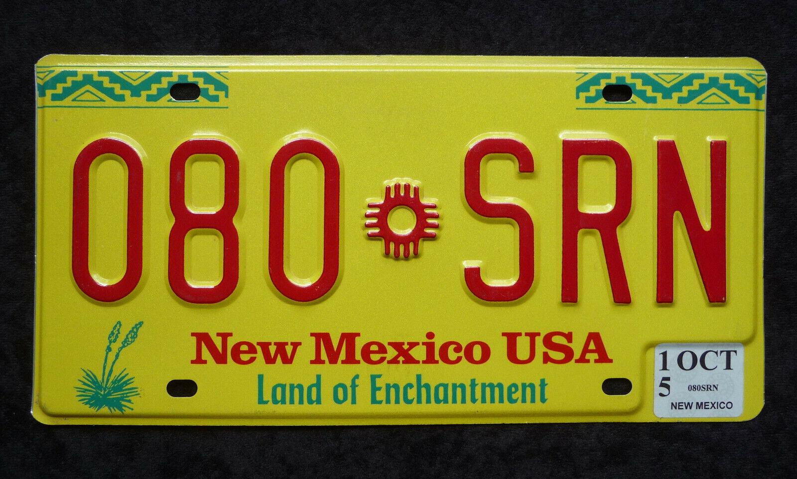 NEW MEXICO ★ Land of Enchantment ★ USA Auto Kennzeichen ★ Original ★ Top! 080SRN