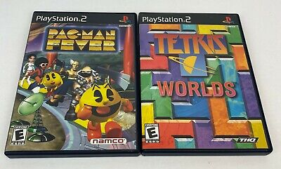 LOT OF 2 PS2 Games - Pac-Man Fever & Tetris Worlds - Both Complete CIB Black Lab