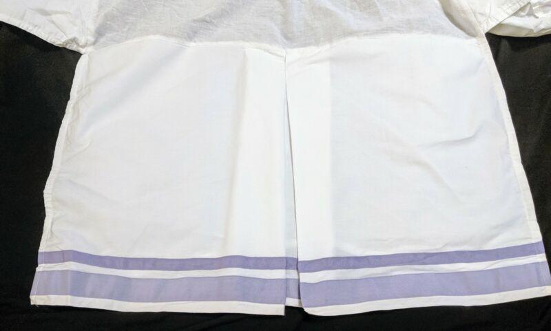 Pottery Barn Kids Lot Lavender Harper Crib Skirt & Polka Dot Crib Sheet