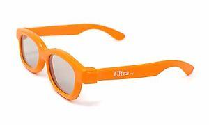1 Pair of Orange 3d Glasses for kids children Universal for passive TVs Cinemas