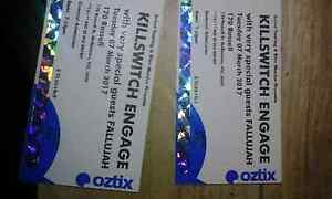 Killswitch engage tickets x2 Werribee Wyndham Area Preview