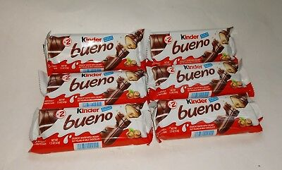 2X Kinder Bueno Hazelnut Wafer Cookie Italy Galleta Candy Bar Euro Sweet SnackBN Kinder Bueno Candy