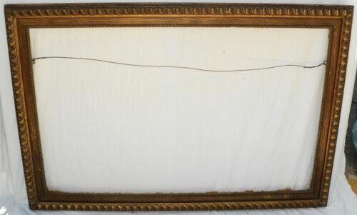 Vintage Large Brown Ripple Design Picture Frame
