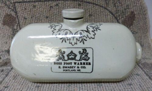 Rare Antique E. Swasey & Co. Stoneware Boss Foot Warmer