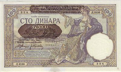 Ro.601 Besetzung Serbien 100 Dinara 1941 (1-)