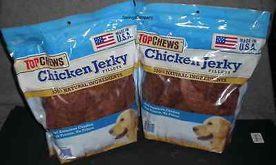 6 LBS of Top Chews Chicken Jerky Fillets 100% Natural All American Dog Treats