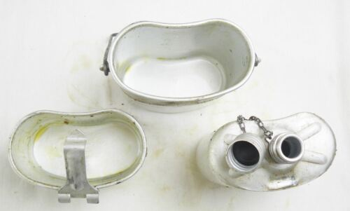 Russian Airborne Flask Soviet Army Canteen Set USSR Kettle Stove 3 Piece Grease 8