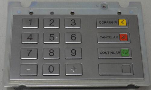 WINCOR EPP6 KEYBOARD SPANISH METAL PN: 1750159575