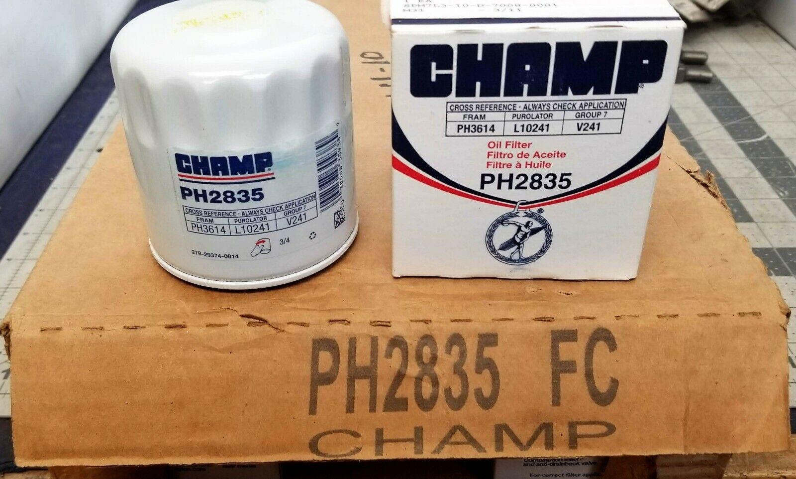 PH2835 CHAMP FILTER REPLACES FRAM PH3614, DELCO PF53, WIX 51348,PUROLATER 10241