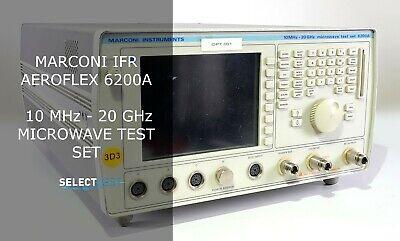 Marconi Ifr Aeroflex 6200a 10 Mhz - 20 Ghz Microwave Test Set Look Ref 004g