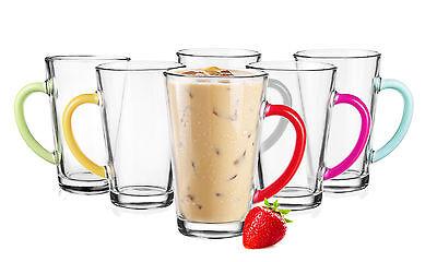 6 latte macchiato Occhiali 300 ml con COLORATO HENKEL 6 Cucchiaio GRATIS