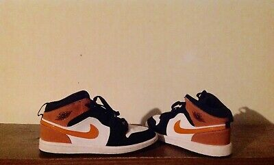 Nike Air Jordan 1 shoes for boys, shattered backboard colorway, size 2y