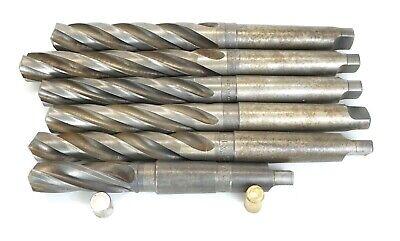 Lot 6 Hss 4mt Taper Shank Core Drills 1-964 - 1-38 Morse Athol Drill - Usa