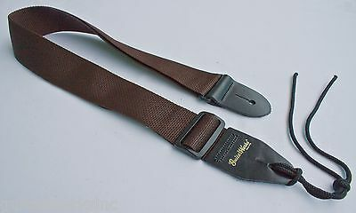 Guitar Strap BROWN NYLON Made In USA Since 1978 Fits All Acoustic & Electric