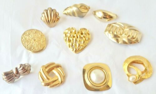 Vintage Lot of 10 Scarf Clips- Gold Tone***