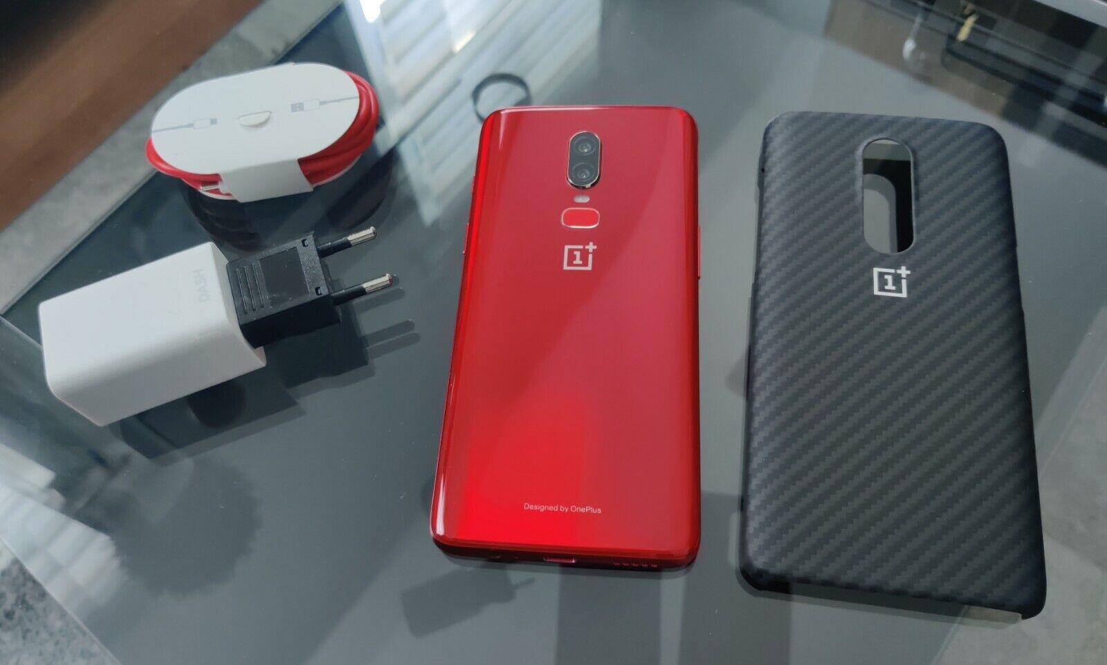 OnePlus 6 - 128GB - rot - Top Zustand