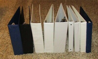 Lot Of 9 Assorted 3-ring Binders