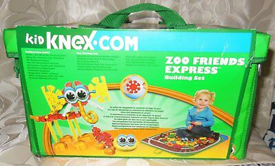 Kid Knex Zoo Friends Express Building Set 171 Pcs Knex Storagebin Play Mat New