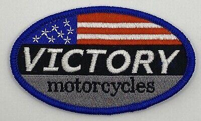 Victory Motorcycles American Flag Patriotic Patch Vintage Style Retro Hat Cap