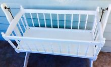 Exquisite white wooden cradle /crib / cot / bassinet/ toy storage Wollongong Wollongong Area Preview