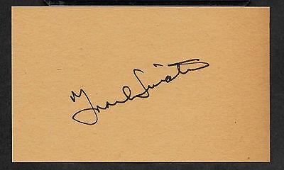 Frank Sinatra Autograph Reprint On Old 3x5 Card Rat Pack Las Vegas