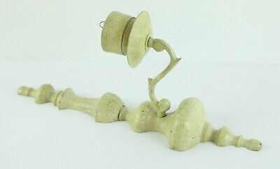 Vintage Painted Brass Wall Sconce Candle Holder Shabby Chic Farmhouse Green 14