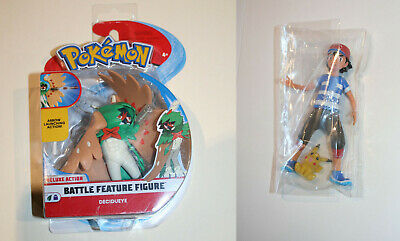 POKEMON BATTLE FEATURE DECIDUEYE WCT TOYS RARE SEALED MINT + ASH FEATURE FIGURE